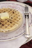 Waffle обломока шоколада бельгийский Стоковые Изображения