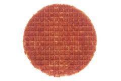 Waffle при мед изолированный на белизне Стоковые Изображения RF