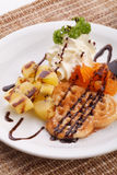 Waffle сердца Стоковое фото RF