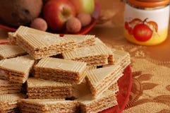 waffle таблицы карамельки Стоковые Изображения