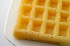 waffle тарелки крупного плана Стоковые Фотографии RF