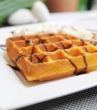 waffle шоколада верхний Стоковые Фото
