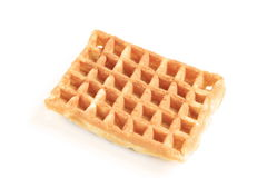 Waffle. A waffle on a white background royalty free stock images
