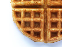 Waffle. In a white background stock photo