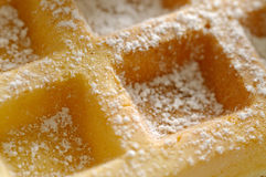 Waffle. Closeup of fresh homemade waffle Royalty Free Stock Images