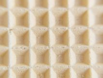 Waffle background. Abstract texture macro Royalty Free Stock Images