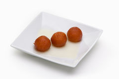 Waffle Balls on White Plate Royalty Free Stock Photography