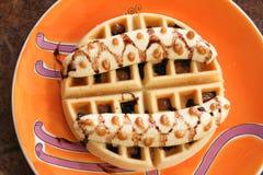 Waffle banana Stock Photography