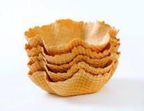 Waffle baskets Stock Image