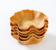 Waffle baskets Stock Photo