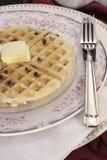 Waffle belga de microplaqueta de chocolate Imagens de Stock