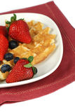 Waffle with berries Stock Photos