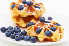 Waffle with berry b Royalty Free Stock Image