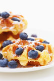 Waffle with berry c Stock Photos
