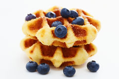 Waffle with berry e Stock Photography