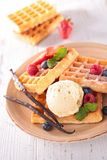 Waffle with berry fruit Royalty Free Stock Image