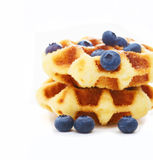 Waffle with berry g Royalty Free Stock Photo