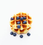 Waffle with berry on white a Royalty Free Stock Photo