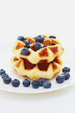 Waffle with berry on white Royalty Free Stock Photos