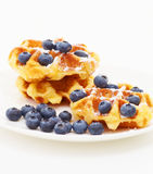 Waffle with blueberry Stock Image