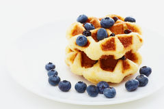 Waffle with blueberry Royalty Free Stock Image