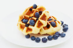 Waffle with blueberry Royalty Free Stock Photography