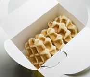 Waffle in The box package Stock Photos