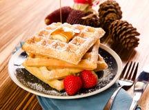 Waffle Breakfast Royalty Free Stock Image