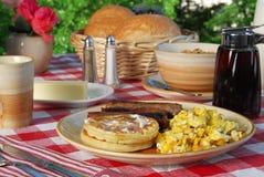 Waffle Breakfast Royalty Free Stock Photos