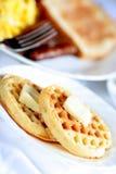 Waffle breakfast Stock Photography