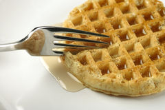 Waffle for breakfast Royalty Free Stock Image