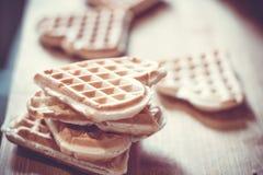 Waffle. Breakfast sweets waffle food homemade royalty free stock image