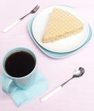 Waffle cake Stock Images