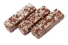 Waffle cake in chocolate glaze Stock Photos