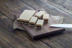 Waffle cake with  chocolate Stock Image
