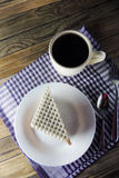 Waffle cake and tea Stock Images