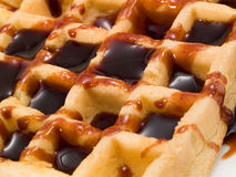 Waffle with Chocolate Stock Photography