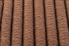 Waffle chocolate rolls Royalty Free Stock Photos