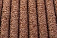 Waffle chocolate rolls. Stick closeup background Royalty Free Stock Photos
