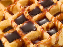 Waffle with Chocolate Royalty Free Stock Photography