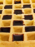 Waffle with Chocolate Royalty Free Stock Photo