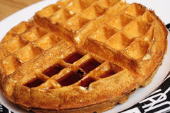 Waffle. A close up of a waffle royalty free stock photos