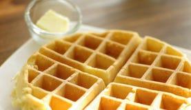 Waffle com manteiga Fotografia de Stock
