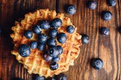 Waffle com mirtilo Fotos de Stock