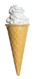 Waffle cone with a dessert Royalty Free Stock Photo