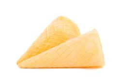 Waffle cone isolated Stock Image