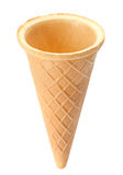 Waffle cone on white Stock Photo