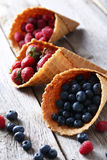 Waffle cones Royalty Free Stock Images