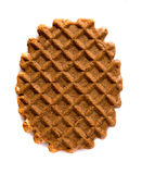 Waffle cookies isolated on white background Royalty Free Stock Photos