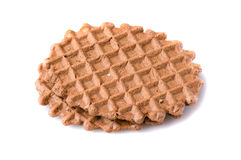 Waffle cookies isolated on white background Royalty Free Stock Photo